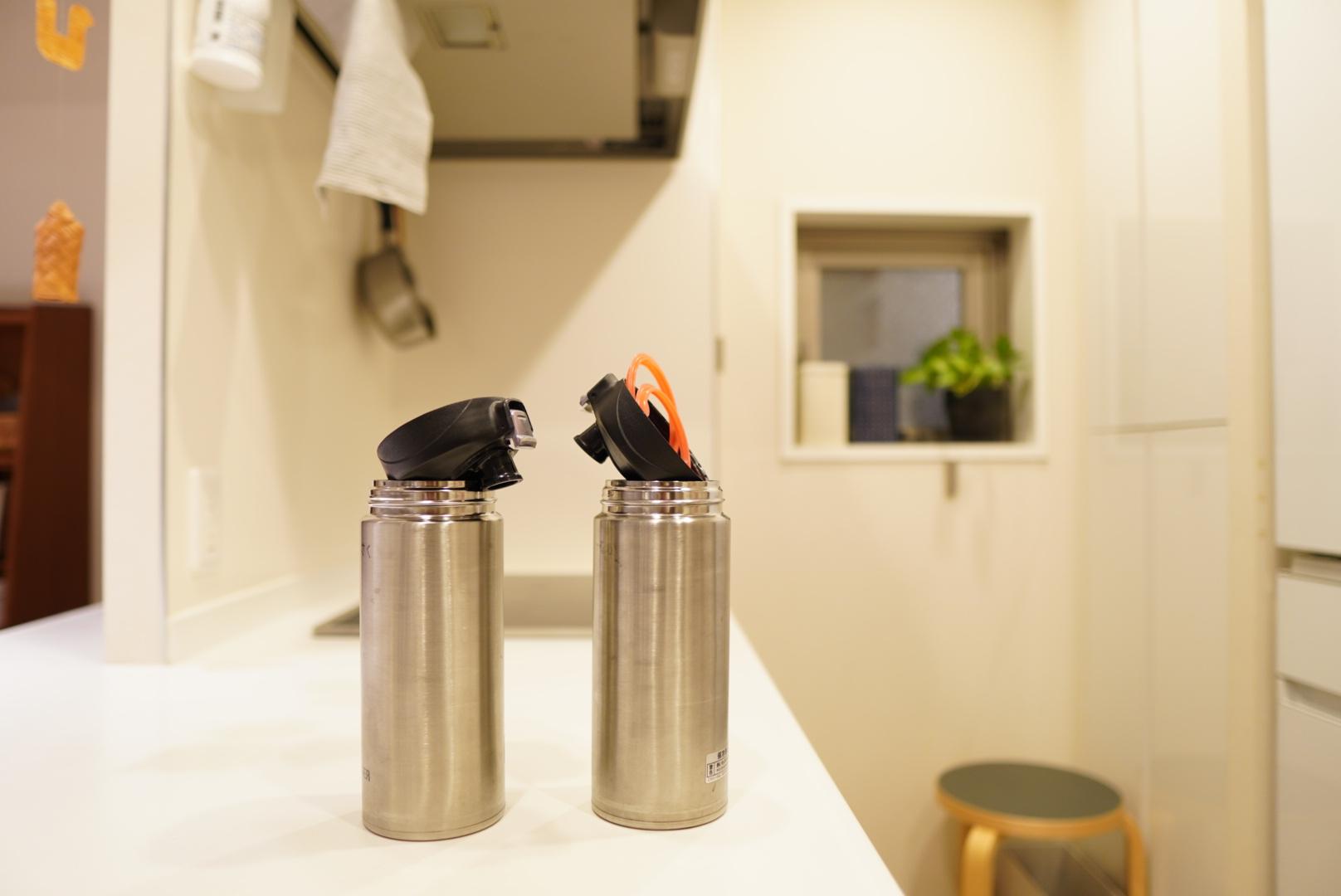 【キッチン収納】毎日使う水筒は出しっぱなし?