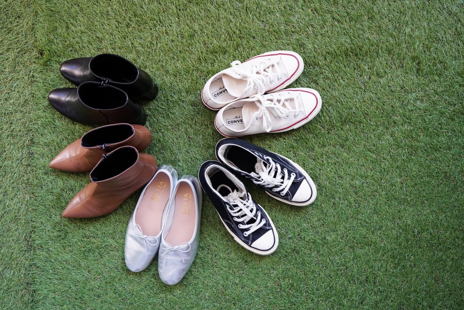 【秋のファッション】靴とブラウス